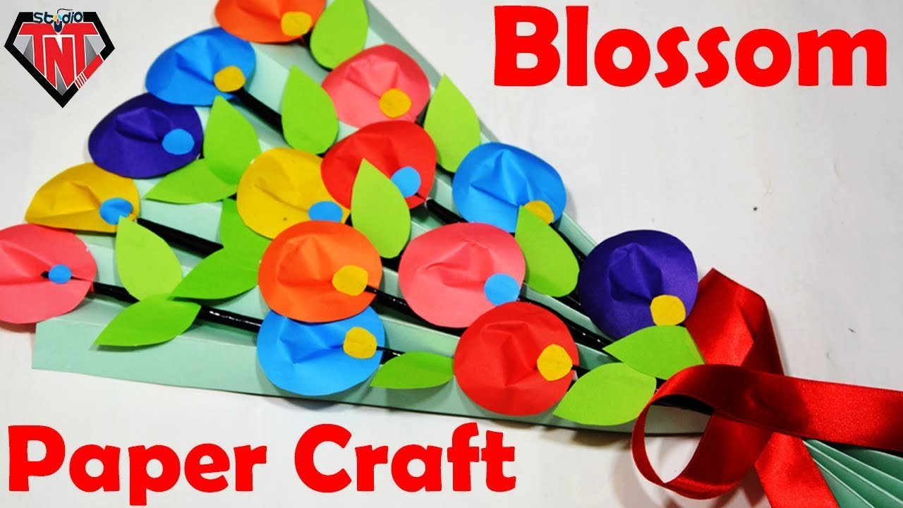 How To Make Awesome Paper flower Bouquet || DIY Paper Blossom Handmade || Paper Crafts