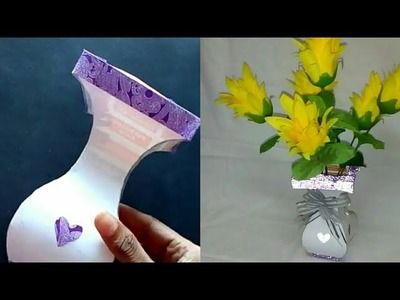 How to make Flower Pot using Chart Paper || Homemade products