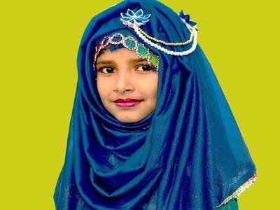 How to make hijab pin with ribbon & pearls    Nusrat DIY Crafts
