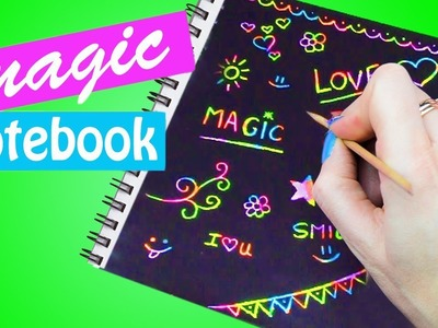 How to make MAGIC NOTEBOOK! DIY crafts