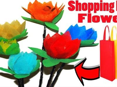 How To Make Shopping Bag Roses || DIY Shopping Carry Bag Flowers || Shopping Bag Crafts