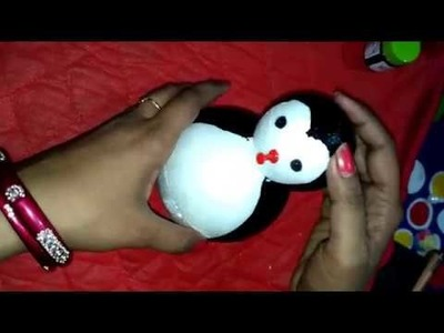 How to make Thermocol Penguin