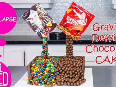 Maltesers & M&M Anti-Gravity Cake | Timelapse | Gravity Defying Cake | DIY & How to