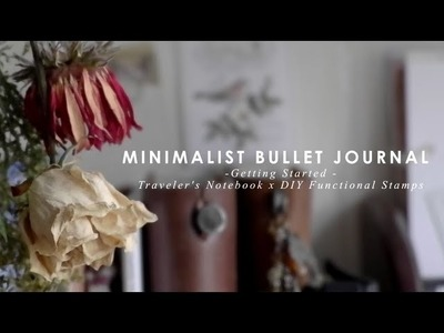 Minimalist Bullet Journaling in a Traveler's Notebook Using DIY Functional Stamps