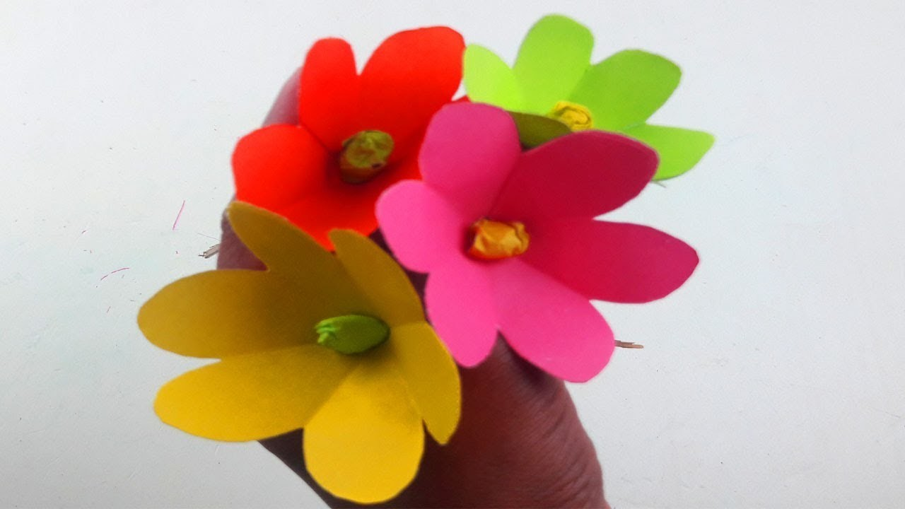 Origami Flower Tutorial How To Make Simpleeasy Paper Origami Flower