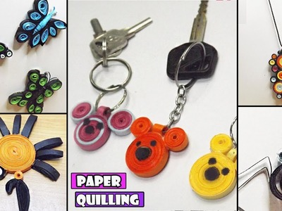 Paper Quilling Art | DIY Miniature Animals and Key chain | Crafts with Paper