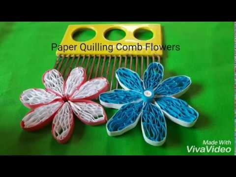 Paper Quilling Comb Flowers
