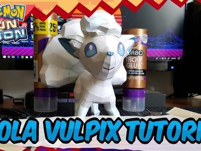 Papercraft Tutorial: How to make Alola Vulpix