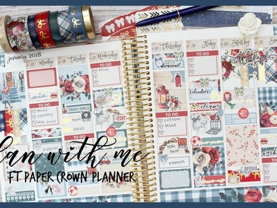 PLAN WITH ME ll JAN 15-21 ll FT PAPER CROWN PLANNER