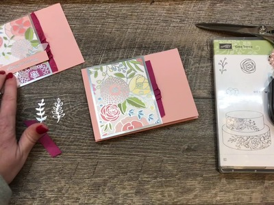Tips and Tricks to hilight your GORGEOUS Printed Paper in a card!