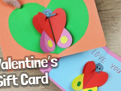 Valentine gift card DIY idea for kids