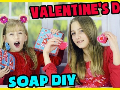 VALENTINE'S DAY SOAP DIY! MAKING VALENTINE'S DAY GIFTS.