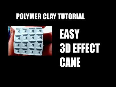 238 Polymer clay tutorial - easy 3d effect cane
