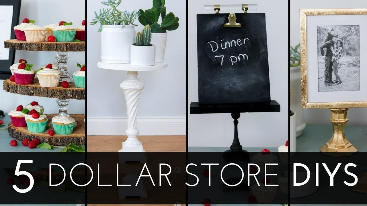 5 Dollar Store and Thrift DIYS - Thrifty DIY home decor