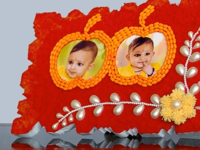 Apple Photo Frame using Woolen cutting || Handmade Photo frame making at home || DIY craft idea