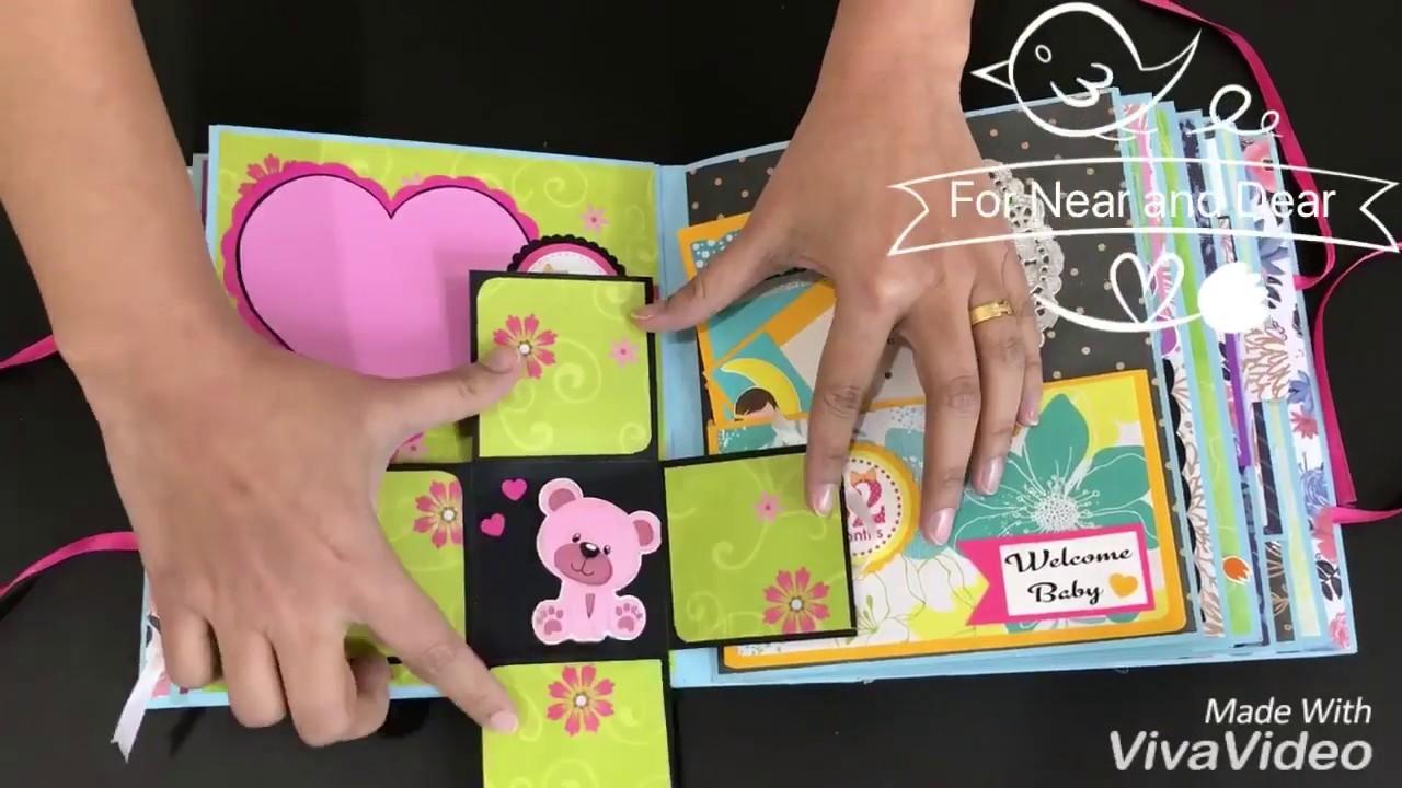Beautiful Baby Album. Boy or Girl. Handmade Baby Journal. Baby shower gift. Pregnancy  Journal