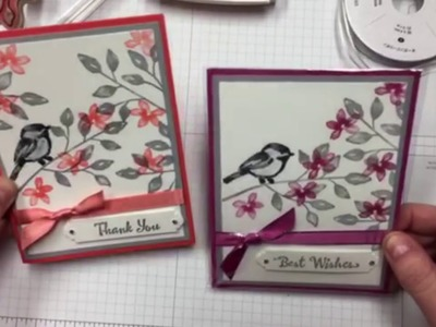 Changing Up Two Handmade Cards Using the Petal Palette Stamp Set