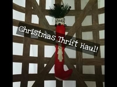 Christmas 2017 Thrift Haul