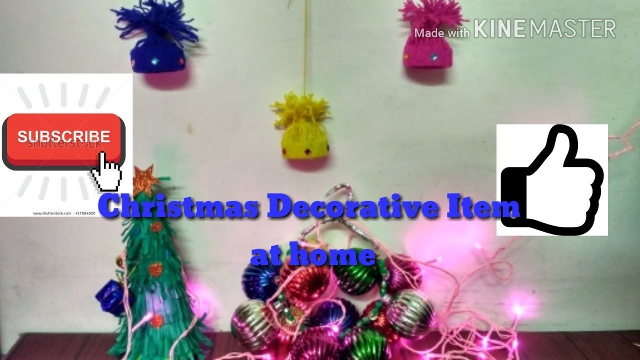 Christmas Decorative Items With Waste Materials
