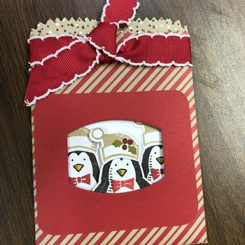 """Christmas"" Triple Penguin Pocket Envelope"