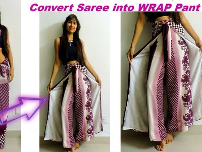 Convert Saree into Wrap Pant. Diy Wrap in 10 MInutes