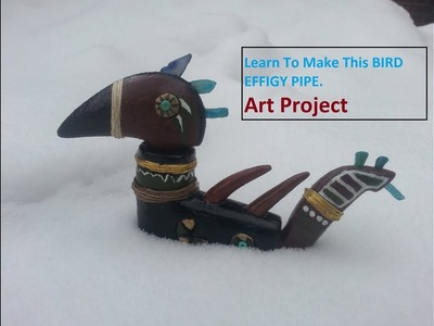 CRAFT PROJECT Stone Effigy Pipe Painting & Details ART