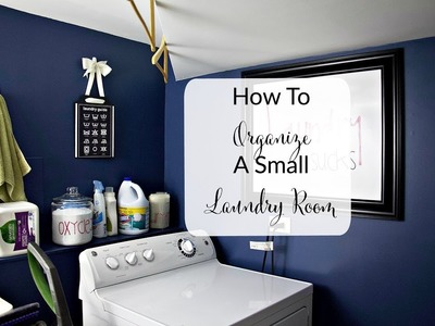 DIY And Decor Challenge: : Organizing A Small Laundry Room