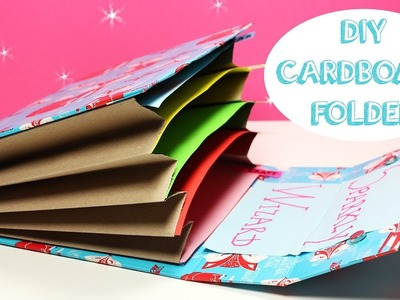 DIY Cardboard Folder - How To Make An Accordion Folder