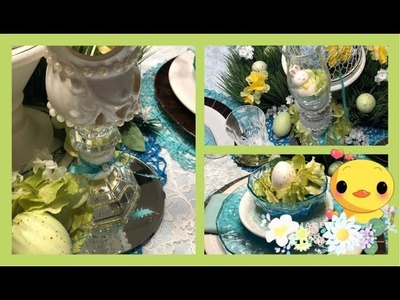 ~DIY~ Dollar Tree •Easter Candle Holder Centerpiece •
