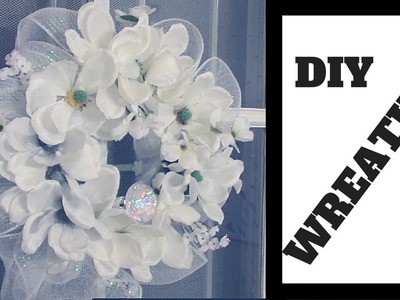 DIY DOLLAR TREE WREATH FOR ANY SEASON || HOW TO MAKE AN ALL WHITE WREATH