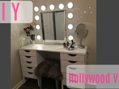 DIY Hollywood vanity | Under $150 | Beauty on a Budget