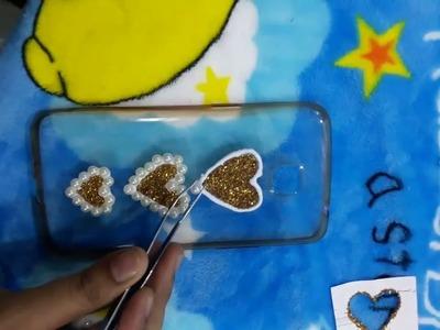DIY Homemade Phone Case | Homemade Mobile cover | Easy mobile cover Decoration idea