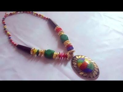 (DIY)HOW TO MAKE BEADED LONG NECKLACE.HANDMADE JEWELLERY.THE STUNNING HANDMADE'S