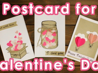 DIY - postcards for Valentine's day