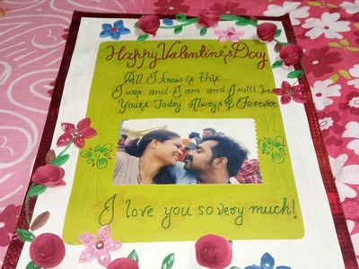 DIY Valentine's day card.Handmade valentine's day card. Valentine's day gift ideas for him