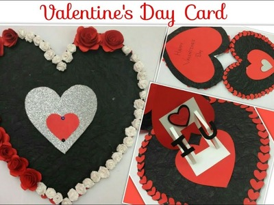 DIY Valentines day Heart Card.Heart Shaped Love Cards Pop up Handmade Greeting Cards for Boyfriend