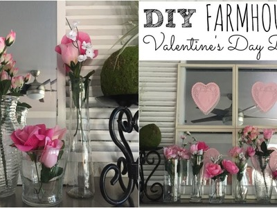 DOLLAR TREE DIY | FARMHOUSE Valentine's Day Decor | Fireplace Mantel