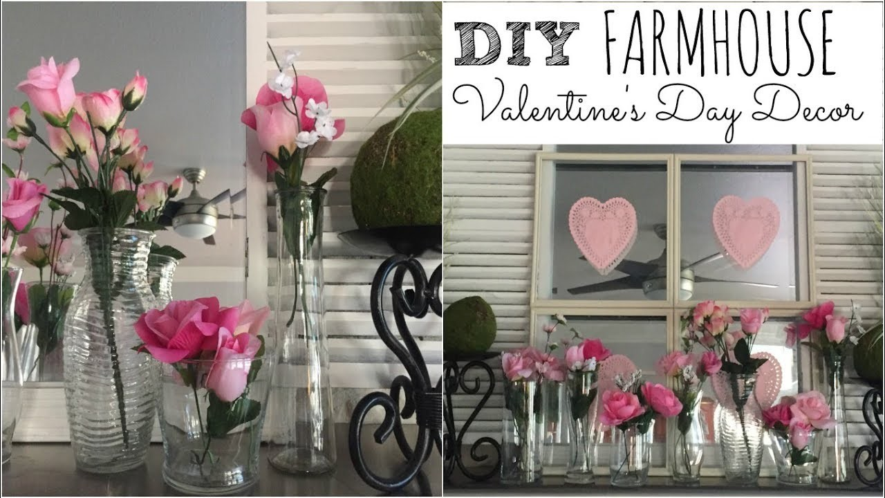 Dollar Tree Diy Farmhouse Valentines Day Decor Fireplace Mantel