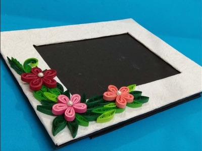 Handmade photo frame with paper quilling work|Paper quilling|Quilling art|Photo frame
