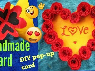Handmade Valentine's Day Card||Easy Pop-up Card||DIY Valentine's Day Card