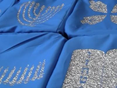 Homestead shopping and sewing Hanukkah gift baskets!