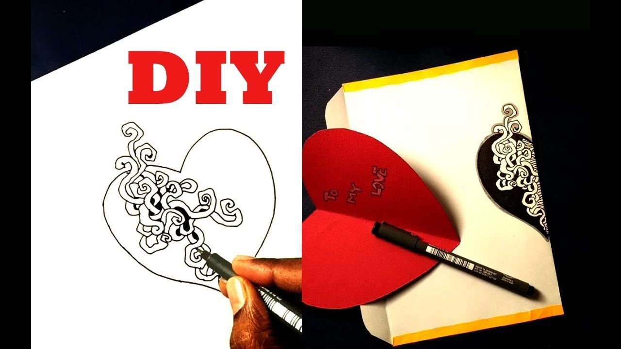 How to make envelope and card for valentines day || DIY || Own style