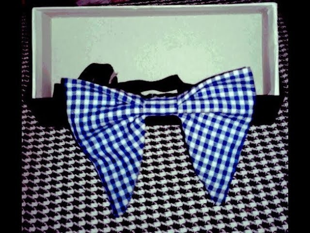 How to make fabric butterfly bow tie for men ## easy diy