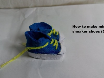 How to make mini sneaker shoes (DIY)