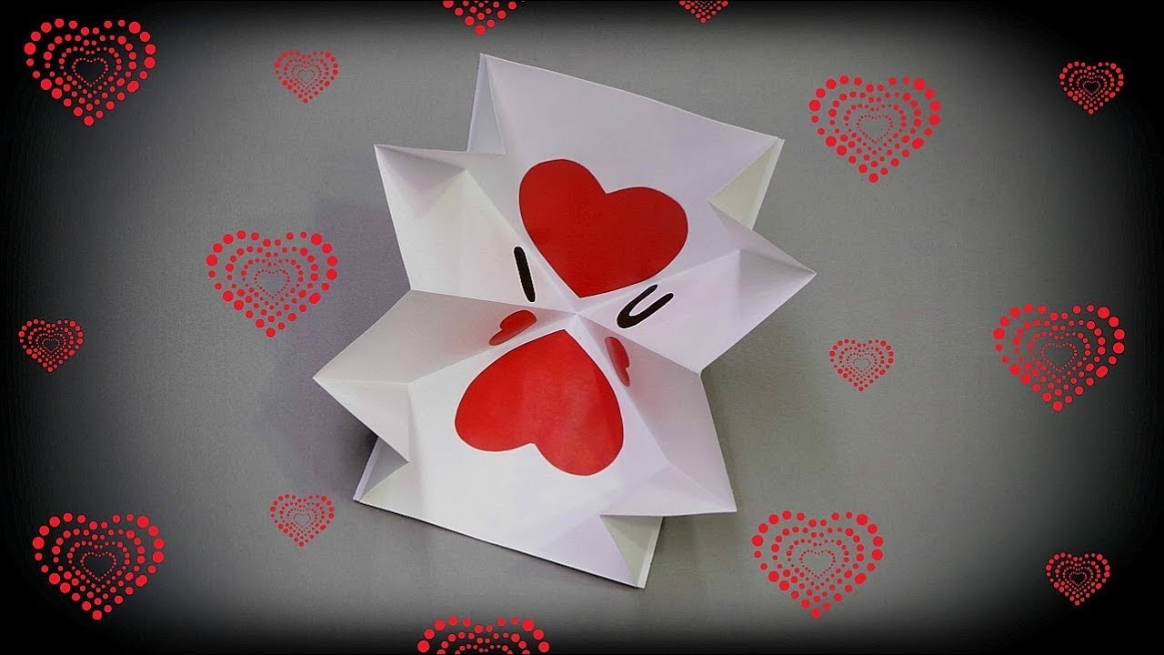 How To Make Valentines Day Pop Up Card Quick And Easy Diy