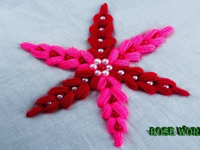 How to sew flower learn to sew work hand embroidery flower sewing tutorial by rose world