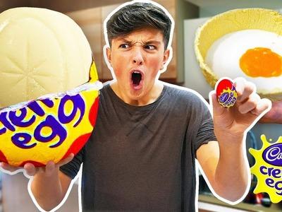 I Made the World's Largest WHITE Creme Egg.  (DIY GIANT CREME EGG)