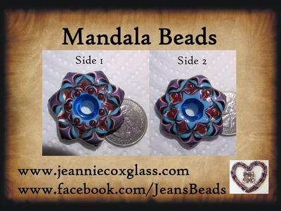 Making a Mandala Lampwork Bead by Jeannie Cox