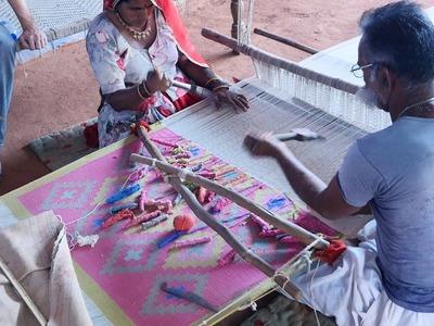 Making Handmade Carpets and Rugs in Indian Village at Jodhpur Rajasthan || Handicraft Items