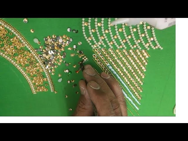 Making of Kid Lehanga Blouse work with Pearls , Beads and Stones